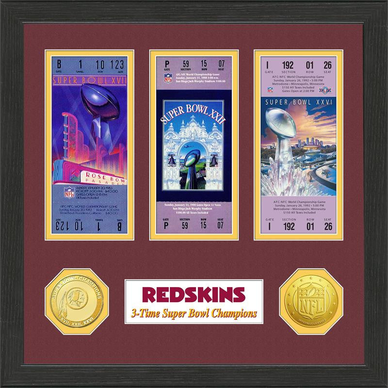 Washington Redskins Super Bowl Championship Ticket Collection