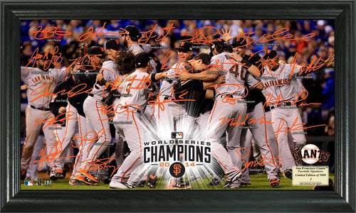 San Francisco Giants 2014 World Series Champions Celebration Signature Field