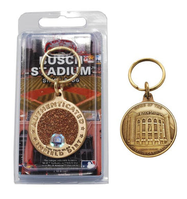 st. louis cardinals busch stadium infield dirt key chain