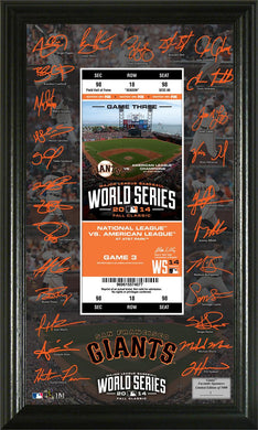 San Francisco Giants 2014 World Series Signature Ticket