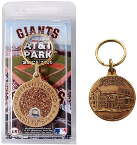 san francisco giants infield dirt key chain