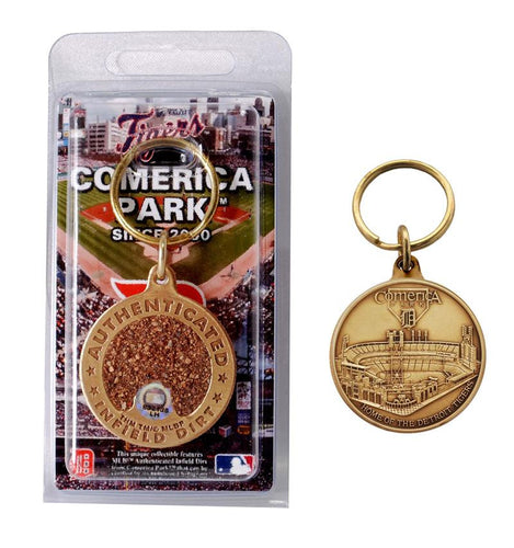 detroit tigers comerica park infield dirt key chains