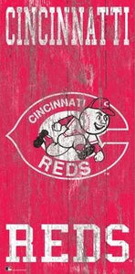 "Cincinnati Reds Heritage Logo Wood Sign - 6""x12"""