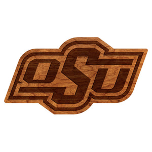 Oklahoma State Cowboys Wood Wall Hanging - Large Size