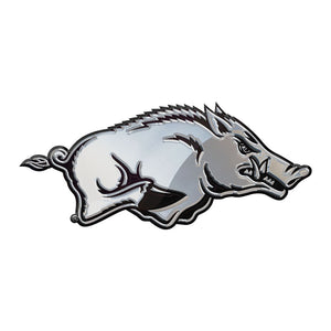 Arkansas Razorbacks Chrome Auto Emblem