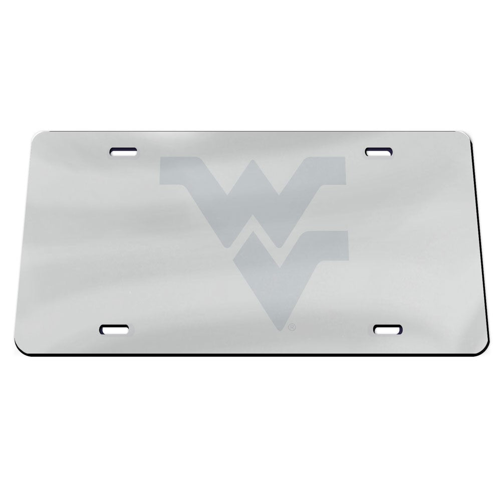 West Virginia Mountaineers Chrome License Plate