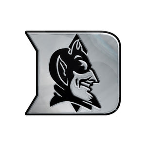 Duke Blue Devils Free Form Chrome Auto Emblem