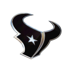 Houston Texans Chrome Auto Emblem