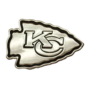 Kansas City Chiefs Chrome Auto Emblem