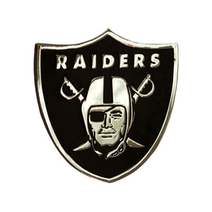 Oakland Raiders Chrome Auto Emblem