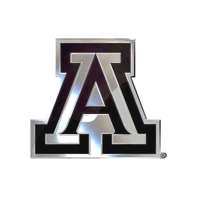 Arizona Wildcats Free Form Chrome Auto Emblem
