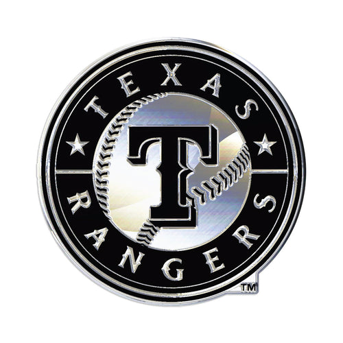 Texas Rangers Chrome Auto Emblem