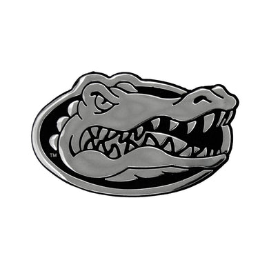 Florida Gators Free Form Chrome Auto Emblem