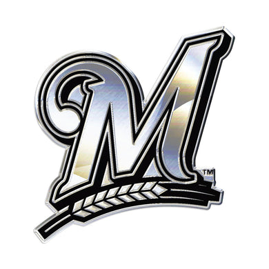 Milwaukee Brewers Chrome Auto Emblem