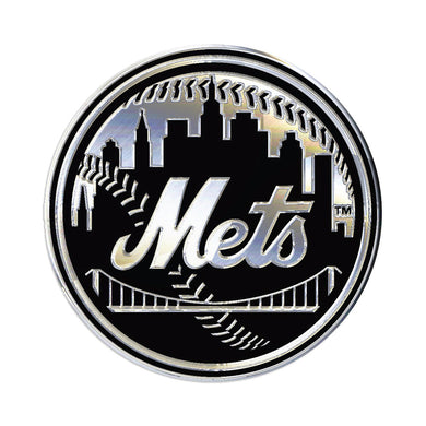 New York Mets Chrome Auto Emblem