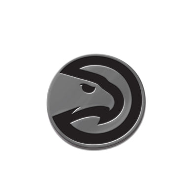 Atlanta Hawks Free Form Chrome Auto Emblem