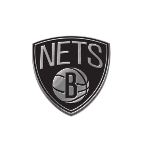 Brooklyn Nets Free Form Chrome Auto Emblem