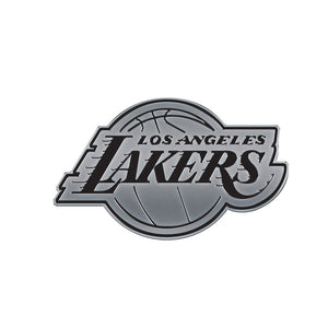 Los Angeles Lakers Free Form Chrome Auto Emblem