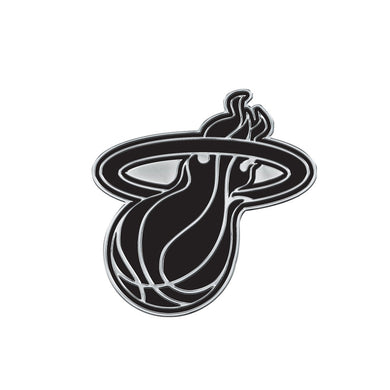 Miami Heat Free Form Chrome Auto Emblem