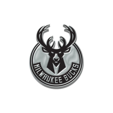 Milwaukee Bucks Free Form Chrome Auto Emblem