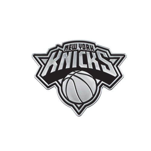 New York Knicks Free Form Chrome Auto Emblem