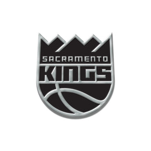 Sacramento Kings Free Form Chrome Auto Emblem
