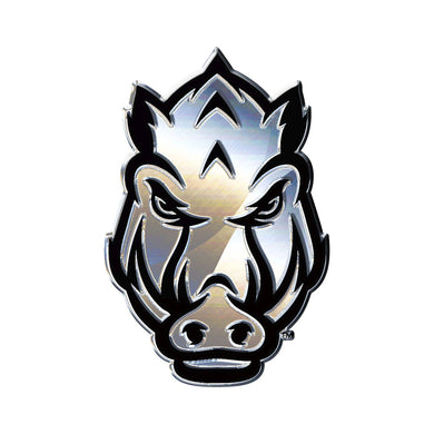 Arkansas Razorbacks Chrome Auto Emblem Tusk
