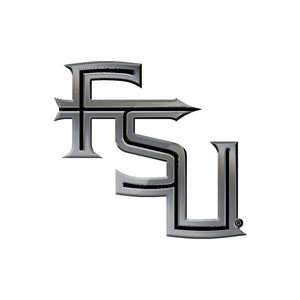 Florida State Seminoles Free Form Chrome Auto Emblem