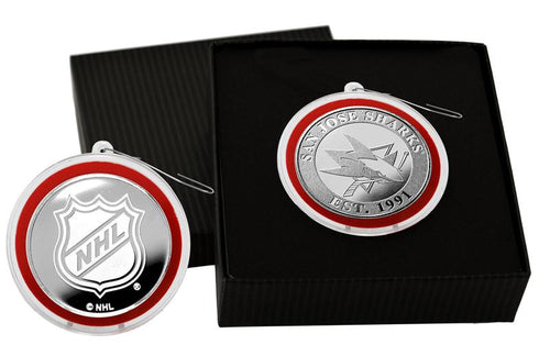 San Jose Sharks Silver Coin Ornament