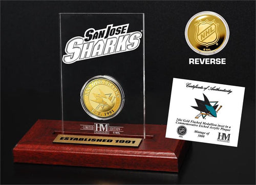 San Jose Sharks Etched Acrylic Desktop