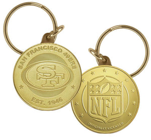 San Francisco 49ers Bronze Bullion Keychain