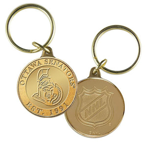 Ottawa Senators Bronze Team Keychain