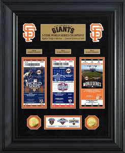 San Francisco Giants World Series Deluxe Gold Coin & Ticket Collection