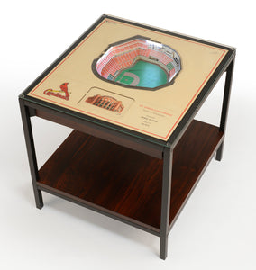 St Louis Cardinals 25 Layer Lighted StadiumView End Table