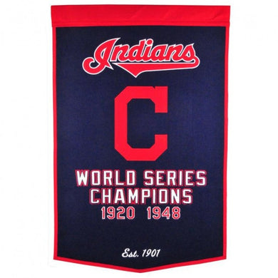 Cleveland Indians Dynasty Champions Wool Banners