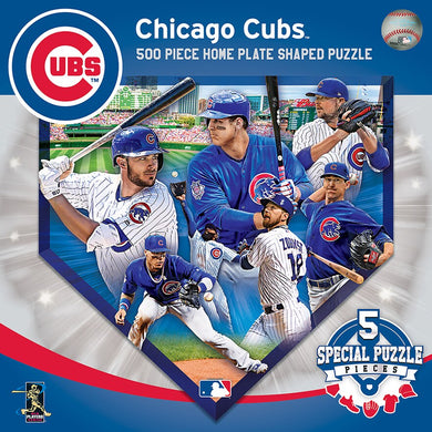 Chicago Cubs Home Plate Shaped Puzzle