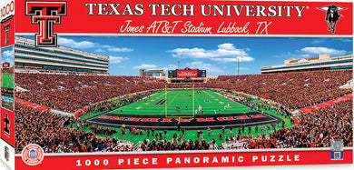 Texas Tech Red Raiders Football Panoramic Puzzle