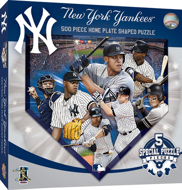 New York Yankees Home Plate Shaped Puzzle