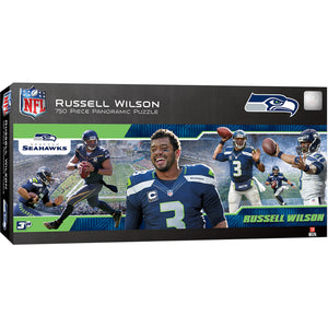 "Russell Wilson Seattle Seahawks 12""x36"" Panoramic Puzzle"