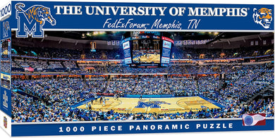 Memphis Tigers Basketball FedEx Forum  Panoramic Puzzle