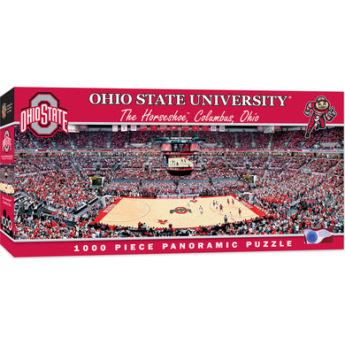Ohio State Buckeyes Basketball Panoramic Puzzle