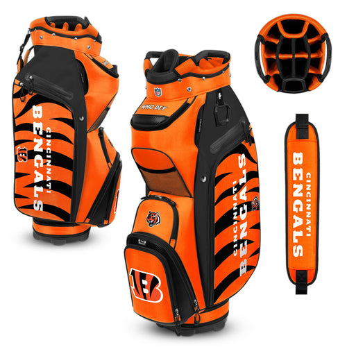Cincinnati Bengals Bucket Cooler III Cart Golf Bag