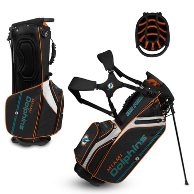 Miami Dolphins Caddie Carry Hybrid Golf Bag
