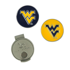 West Virginia Mountaineers Golf Ball Hat Clip & Ball Markers