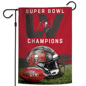 Tampa Bay Buccaneers Super Bowl LV Champions 2-Sided Garden Flag