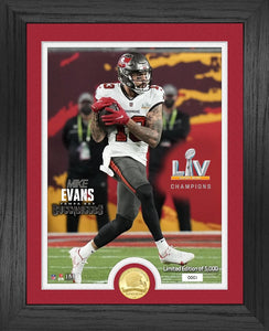 Mike Evans Tampa Bay Buccaneers Bowl 55 Champion Bronze Coin Photo Mint