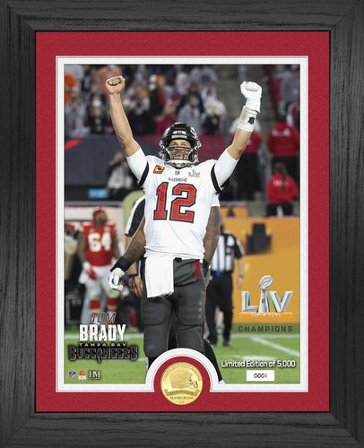 Tom Brady Tampa Bay Buccaneers Bowl 55 Champion Bronze Coin Photo Mint