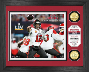 Tom Brady Tampa Bay Buccaneers Bowl 55 Champion MVP Bronze Coin Photo Mint