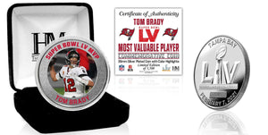 Tom Brady Tampa Bay Buccaneers Super Bowl 55 MVP Color Silver Mint Coin
