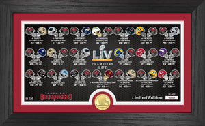 Tampa Bay Buccaneers Super Bowl 55 Victory Bronze Coin Panoramic Photo Mint